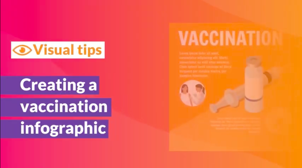 Visual Tips - vaccination infographic