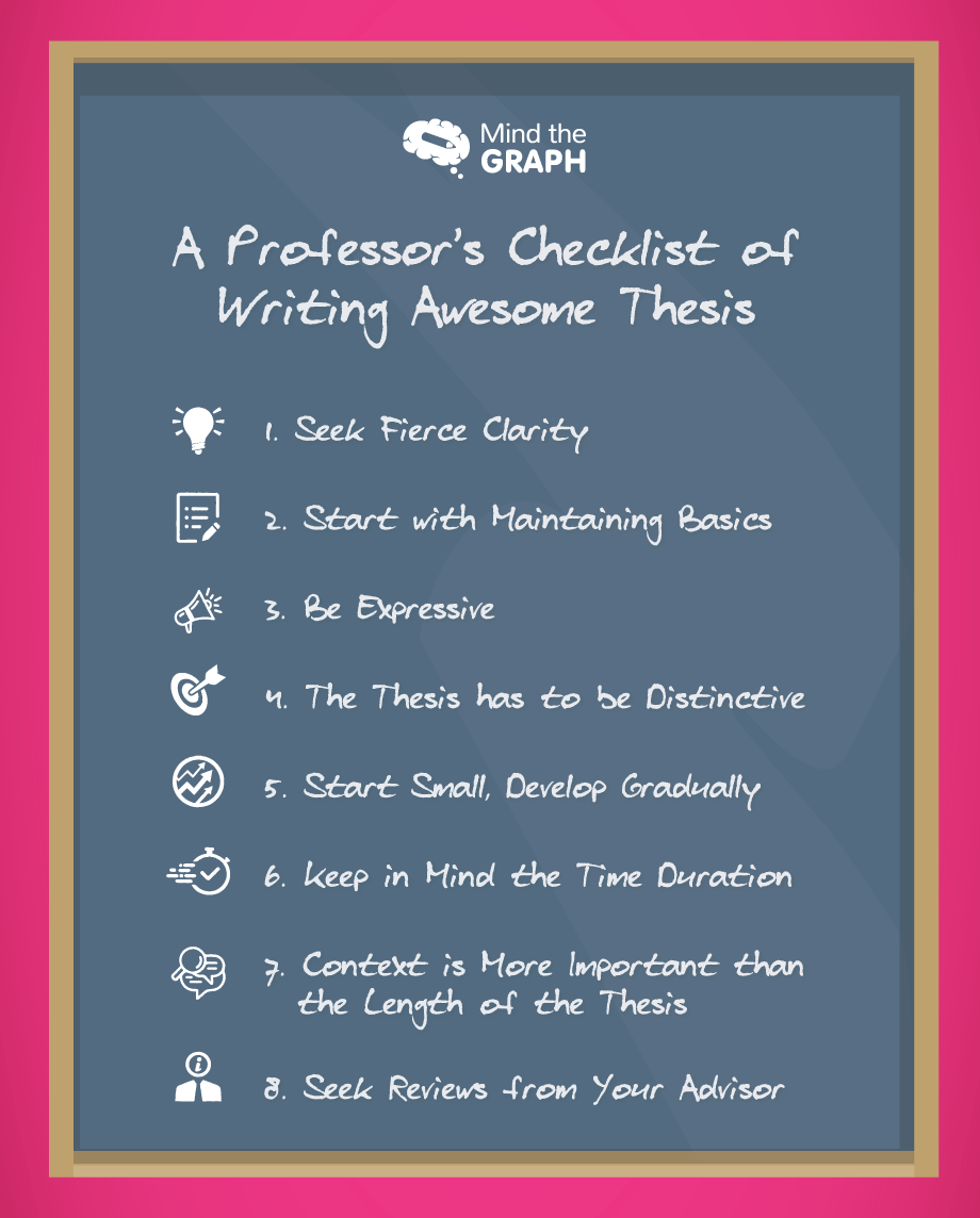 A Professor's Checklist of Writing Awesome Thesis