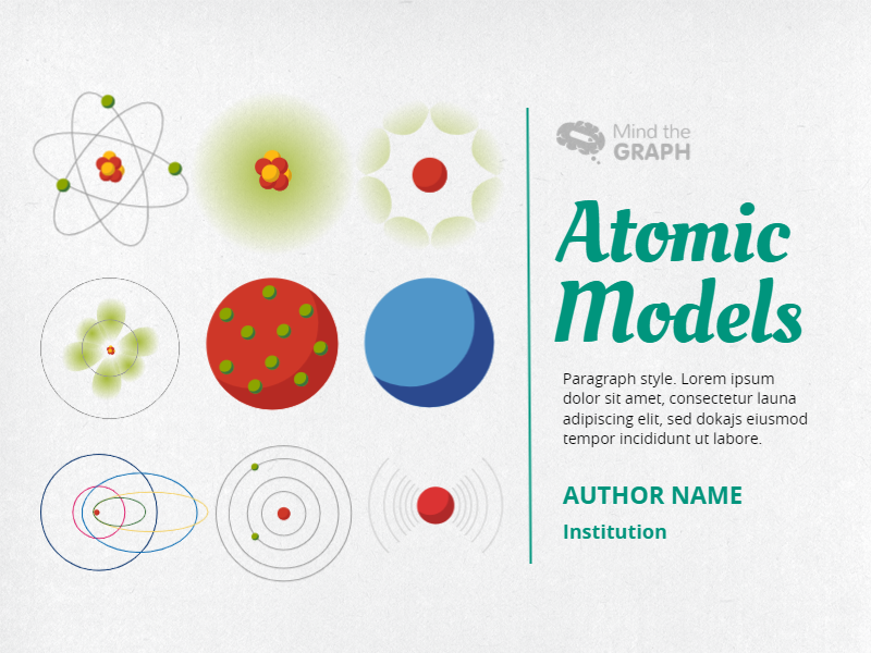 Mind the Graph Template: Atomic Models Presentation
